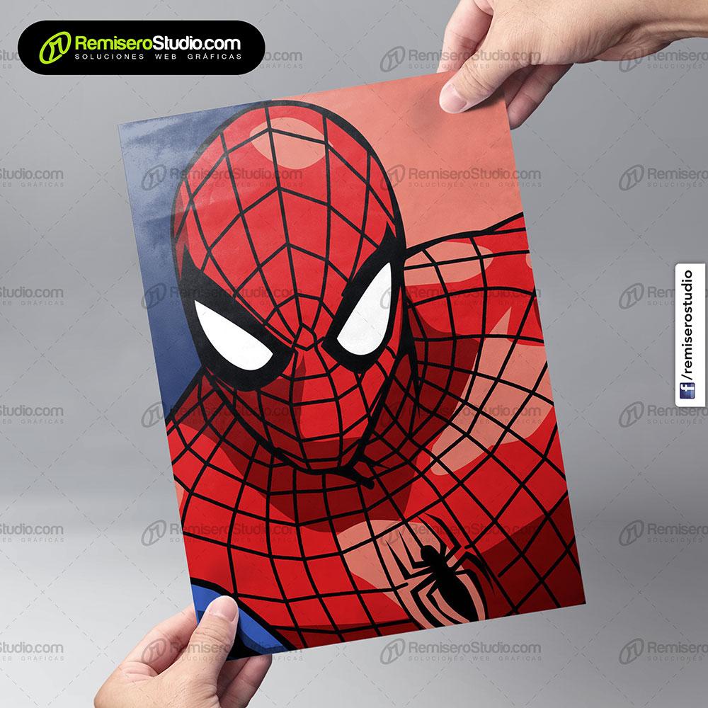 Impresión de afiche en Couche A4 Arte Pop Spider-man