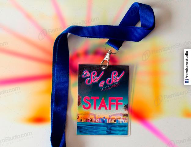 Credenciales enmicadas impresas a full color para eventos