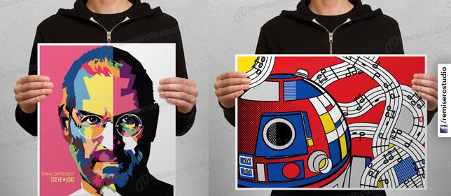Impresión de Afiches - Posters en Tamaños A4, A3, A2, A1, A0