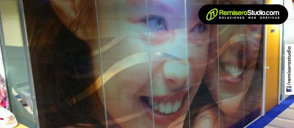 Impresión en vinil transparente adhesivo
