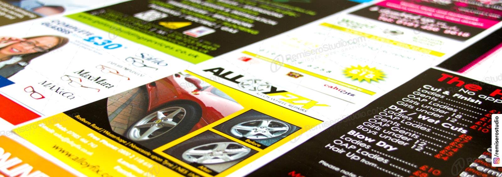 Impresión de volantes publicitarios a full color, folletos, flyers en Lima Perú.