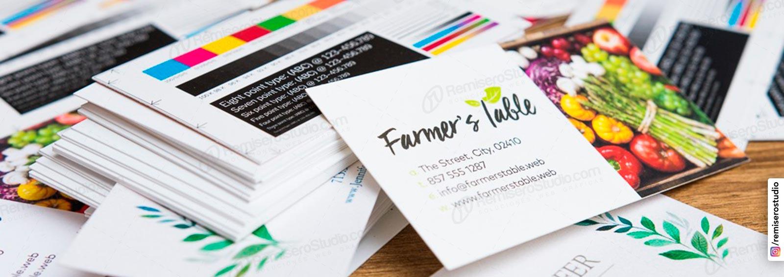 Impresión de tarjetas personales en alta calidad