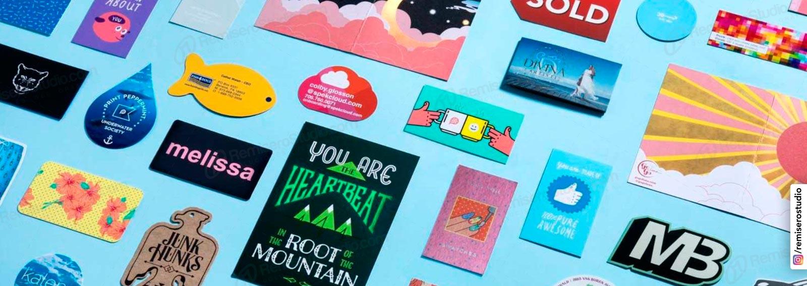 Tarjetas personales con forma o troqueladas, imprime tus tarjetas con forma personalizada segun tu diseño.
