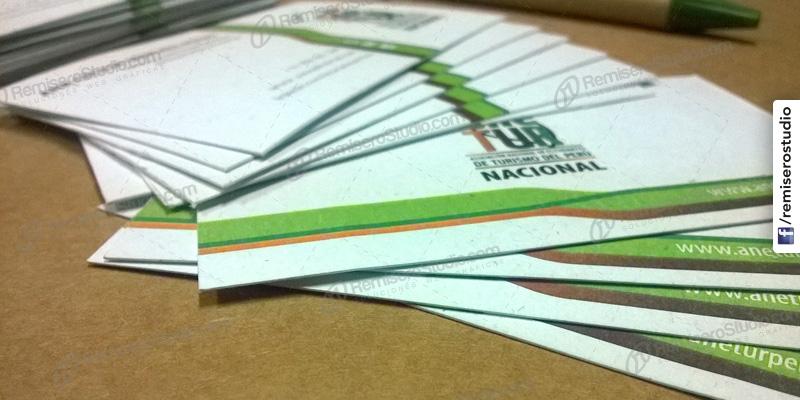 Tarjetas personales cartulinas ecológicas recicladas