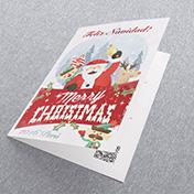 Santa claus merry christmas papá noel con renos. Tarjetas Navideñas Corporativas para empresas Perú -  Navidad 2021 - 2022