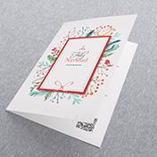 Ramitas tipo corona de arbol navideño - Tarjetas Navideñas Corporativas para empresas Perú -  Navidad 2021 - 2022