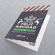 Te deseamos feliz navidad - con renos - tarjetas navideñas empresariales Perú -  Navidad 2021 - 2022
