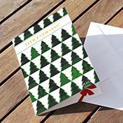 Felices fiestas con pinos de navidad - tarjetas navideñas para empresas Perú -  Navidad 2021 - 2022