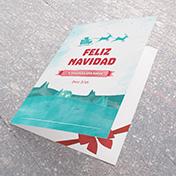 Tarjeta Acuarela Esmeralda Feliz Navidad - Tarjetas Navideñas para empresas -  Navidad 2021 - 2022