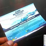 Etiquetas adhesivas papel couche adhesivo plastificado high gloss brillante cliente ecoclean