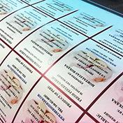 Impresión de stickers vinil blanco mate cliente hortalizas roxana