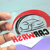 Stickers impresos en vinil transparente al espejo cliente carwash