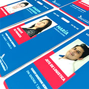 Fotocheck id pvc card impreso a full color en alta calidad, con perforado superior - cliente candy aviation