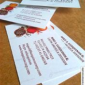 Tarjetas personales impresas en cartulina 350 gramos Z Zanders micro cliente luzquinos