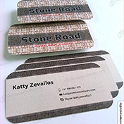 Tarjetas personales impresas en cartulina reciclada 250 gramos cliente stone road