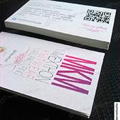 Tarjetas personales ecologicas impresas en cartulina reciclada anice 250 gramos cliente mkm