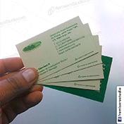Tarjetas personales impresas en cartulina ecologica reciclada cliente dris