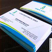 Tarjetas personales impresas en cartulina opalina blanca 300 gramos cliente sinexsac