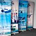 Banner con impresión Roll Screen / Roll Up 100 x 200 cliente adf