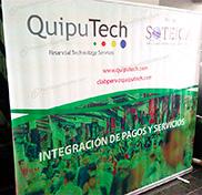 Roll Screen con impresión de banner ancho 2.40 x 2.00 metros cliente quiputech