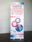 Banner impresión roll up 60 x 160 cliente petramas