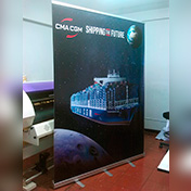 Banner con Roll Up / Roll Screen 1.50 x 2.00 metros cliente CMA CGM