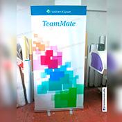 Roll Screen con banner de 1 x 2 metros cliente teammate