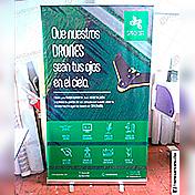 Roll Screen / Roll up Banner impreso en alta resolución 1.20 x 2.0 metros cliente spacedat
