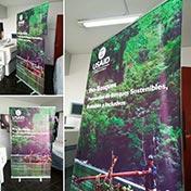 Roll up Banner de 120 x 200 cm impreso en alta calidad , incluye maletin de transporte cliente USAID